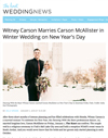 Witney Carson Marries Carson McAllister in Winter Wedding on New Year's Day