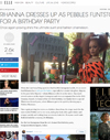 Rihanna Dresses up as Pebbles Flintstone for a Birthday Party
