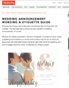 ​Wedding Announcement Wording & Etiquette Guide