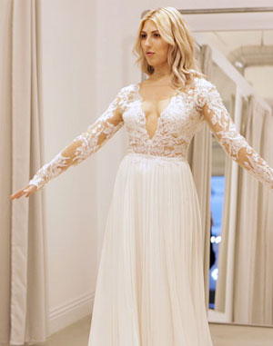 'Dancing With the Stars' Pro Emma Slater Tries On Wedding Dresses