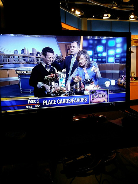 Fox 5 Halloween Crafting with Rosanna Scotto and Greg Kelly