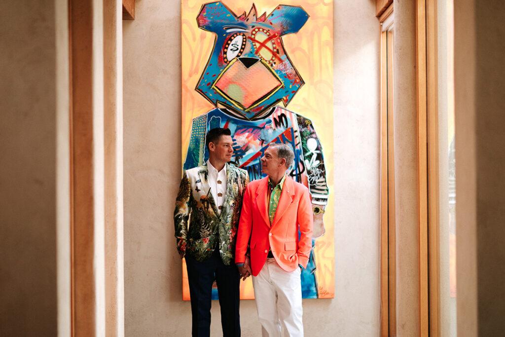 Elvis Duran and Alex Carr